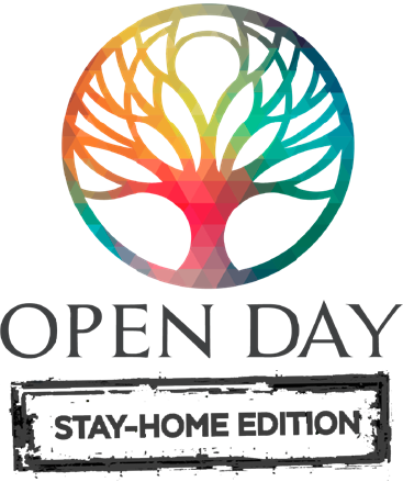 Open Day 2020 Stay Home Logo